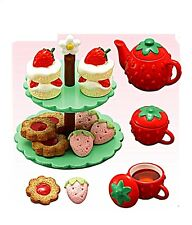 "Re-Ment ""Strawberry World"" #7 - High Tea Stand, 1:6 minis Barbie dollhouse scale"