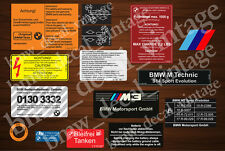 BMW E30 M3 RESTORATION AUFKLEBER DECALS STICKERS SET FULL