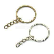 12pcs Keyring Blanks Key Chains Findings Split Rings 4 Link Bronze & Silver