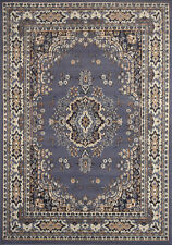 "PERSIAN BLUE AREA RUG 6 X 8 MEDIUM ORIENTAL CARPET 69 - ACTUAL 5' 2""  x  7' 4"""