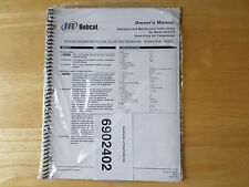 "Bobcat Model BA2T-E Hand Carry Air Compressor Owner's Manual 2002 ""Sealed"""