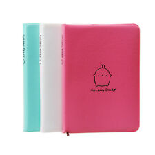 Leather Molang Diary Weekly Planner Agenda Notepad Notebook Cute Rabbit Kawaii