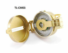 Metal Case Lensatic Compass for Broadband and Satellite, CablesOnline TL-CM03