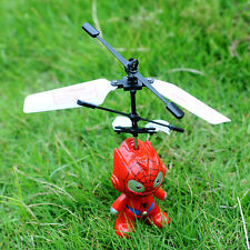 Remote Control RC Spider Man Aircraft Flying Helicopter Plane Toy Induction