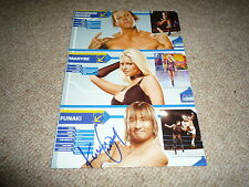 FUNAKI  signed Autogramm 20x28 In Person WWE