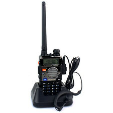 New RETEVIS RT-5RV Walkie Talkie 5W UHF+VHF 2-Way Radio DTMF+Rubber Case Holster