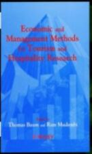 Economic and Management Methods for Tourism and Hospitality Research by Tom...