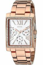 Guess Women's Retro Rose Gold Tone Multi-Function Rectangular Watch - U0446L3