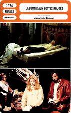 CARTE FICHE CINEMA 1974 LA FEMME AUX BOTTES ROUGES CATHERINE DENEUVE