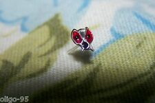 ~oligo's~ Sterling Silver LADYBIRD beetle NOSE STUD screw ring straight pin bone