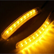 2PCS Universal Car Amber SMD 8LED 12V Rearview Mirror Lights Turn Signal Lights