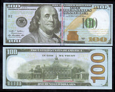 Paper Money FOR GAME 100 dollars 100pcs