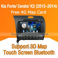 "8"" Car Dash DVD Player GPS Navigation Bluetooth for Kia Forte Cerato 2013 2014"