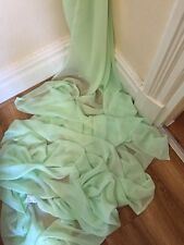 """5 MTR QUALITY MINT GREEN COLOUR CHIFFON FABRIC...45"""" WIDE £12.49 SPECIAL OFFER"""