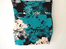 Lily White juniors mini stretch skirt black green cream flower design SZ S New