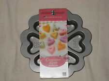NORDIC WARE CONVERSATION HEART BAKING PAN / TIN - BUNDT- CAKE LOVE VALENTINE