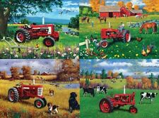 Jigsaw puzzle Multipack 4 assorted scenes Farmall Tractor (=$4.99 each) NEW