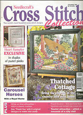 CROSS STITCH COLLECTION MAGAZINE  # 32 THATCHED COTTAGE CAROUSEL HORSES PINKS