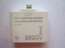 Iphone 6 Apple Lightning Convertor Adaptor to USB,SD.TF Card for Camera/Keyboard