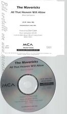 CD--THE MAVERICKS--ALL THAT HEAVEN WILL ALLOW--PROMO