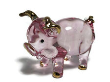 MINIATURE PIG HAND BLOWN GLASS ART FIGURINE ANIMAL Collection