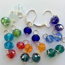 10 Pairs 925 Silver Jewelry charms, 2 Sterling Silver Interchangeable Lever back