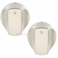 Silver Control Knobs Switch for ARISTON Hot-Ari ix Oven Cooker Hob Spare Part x2