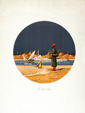 VICTOR E. PICKUP / YASHMID Vintage c1924 Litho THE WATER SELLER, British Art Co.