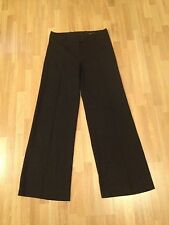 Ladies H&M Black Tailored Pinstriped Wide Leg Trousers - Size 10 **FREE P&P**