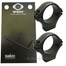 "Optilock 1"" Medium Scope Rings for Sako or Tikka Mounts"