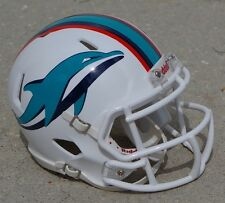 MIAMI DOLPHINS WHITE SPEED CONCEPT MINI FOOTBALL HELMET