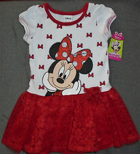 @*DISNEY MINNIE MOUSE RED LACE TUTU DRESS*@ SIZE 5T BRAND NEW W/TAGS!!