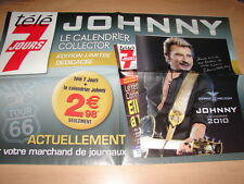 JOHNNY HALLYDAY - POSTER PROMO TELE 7 JOURS !!!!!!!!!!!