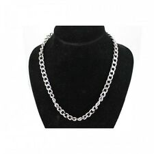 Silver Fashion Mens 50cm Long Chain Stainless Steel Link Necklace