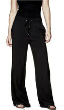 NWT GUESS Women ELSI PALAZZO PANTS Color Black Size:M