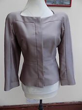 GORGEOUS NEW L K BENNETT SMOKY QUARTZ JK/HEPBURN SILK MIX EVE JACKET SIZE 14