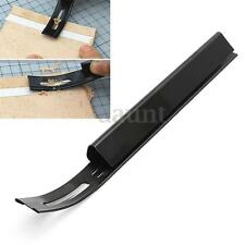 Black Safety Skiver Beveler Thinning Leather Craft Blade DIY Folds Seams Tool