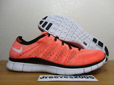 Nike Free Flyknit NSW HOT LAVA Sz 11  100% Authentic Running 599459 800