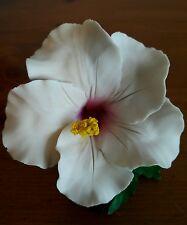 """NAPOLEON CAPODIMONTE FABAR WHITE PORCELAIN FLOWER ITALY FIGURINE 4.5"""""""