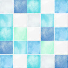 Square Tile Effect Self Adhesive Wallpaper Mosaic Prepasted Vinyl Walls Covering