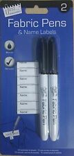 PACK OF 2 PERMANENT FABRIC LAUNDRY PEN NAME MARKER SCHOOL UNIFORM ,BRAND NEW