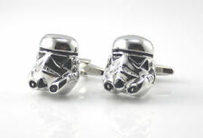 Fashion Stainless Steel Star War Silver Cufflink Cuff Link in Gift Box