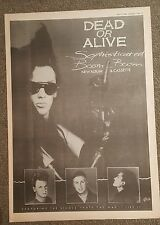 Dead or Alive Sophiiscated boom 1984 press advert Full page 30 x42cm mini poster