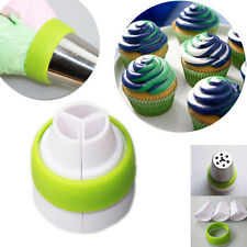 3-Color Icing Piping Bag Russian Nozzle Converters Coupler Cake Decorating Tools