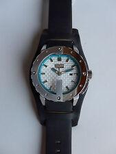Montre Jean-Paul Gaultier neuve homme, cadran acier, bracelet cuir noir  8500104