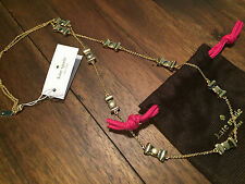New Genuine KATE SPADE 'Take A Bow' Necklace (O0RU0713 Gold) NWT