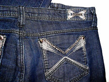 "NWT EXPENSIVE BOUTIQUE $195 RHINESTONE STUD JEANS 13 33""INSEAM"