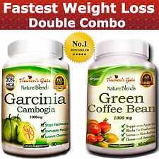 GARCINIA CAMBOGIA GREEN COFFEE BEAN EXTRACT COMBO FAST WEIGHT LOSS USDA ORGANIC