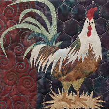 Hit the Hay Laser-Cut Quilt Kit McKenna Ryan All Cooped Up Hoffman Batik Rooster