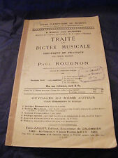 Partition Traité de dictée musicale Paul Rougnon
